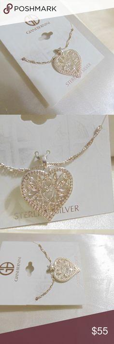61dcff084 Giani Bernini SS Filigree Heart Pendant Necklace Giani Bernini Filigree  Heart Pendant Necklace in Sterling Silver