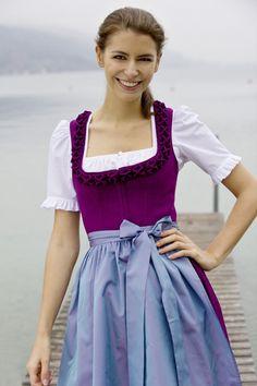 Tostmann Trachten Dirndl Oktoberfest Outfit, Oktoberfest Clothing, Octoberfest Girls, Dirndl Skirt, Romantic Outfit, Flattering Dresses, Dress Cuts, Colourful Outfits, Lovely Dresses
