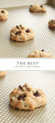 The best recipe for Chewy Chocolate Chip Cookies. Get the secrets that make these Easy Chocolate Chip Cookies better than the rest. Made with simple store bought ingredients, these delicious cookies c Easy Chocolate Chip Cookies, Chocolate Cookie Recipes, Easy Cookie Recipes, Cookie Ideas, Chocolate Chip Cookie Recipe With Baking Powder, Chocolate Chips, Simple Cookie Recipe, Quick Cookies, Making Cookies