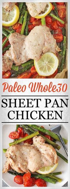 Paleo Whole30 Sheet Pan Dinner- easy, healthy, and ready in 30 minutes! The perfect meal! Gluten free, dairy free, and delicious!