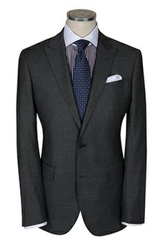 Herringbone Sydney | Dark Grey Super 120s Kyoto Suit