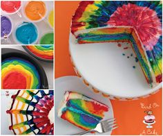 This amazing tie dye cake is sure to brighten your day! Get the recipe now.