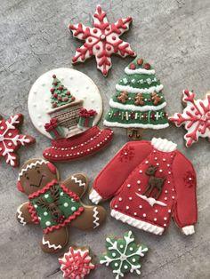 Christmas Sweets, Noel Christmas, Christmas Goodies, Winter Christmas, Christmas Decor, Cute Cookies, Holiday Cookies, Cupcake Cookies, Cupcakes