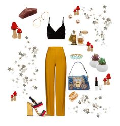 """""""Untitled #22"""" by chungheather ❤ liked on Polyvore featuring T By Alexander Wang, Linda Farrow, River Island, ADAM, Dolce&Gabbana, Barry M, Accessorize, Gucci, Kenneth Jay Lane and Primitives By Kathy"""