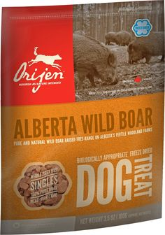 Description Made with a single meat ingredient, Orijen Alberta Wild Boar Singles Freeze-Dried Dog Treats provide a simple and pure way to reward and nourish you Conservation, Black Angus Beef, Organic Dog Treats, Biscuits, Frozen Dog Treats, Fresh Meat, Wild Boar, Dog Boutique, Nutrition