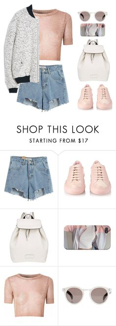 """1. Outta Here"" by mikaylaperrine ❤ liked on Polyvore featuring Chicnova Fashion, Common Projects, Marc by Marc Jacobs, Glamorous, Illesteva and MANGO"