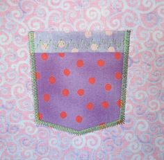 Frocket Pocket  Applique  Machine Embroidery by LilliPadGifts, $4.50