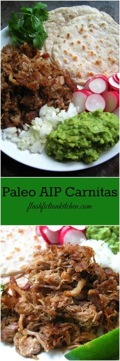 Paleo AIP Carnitas from Flash Fiction Kitchen