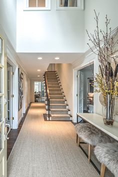 Neat ideas found in this home.  Like open kitchen/living room, long wide kitchen with eat-in bar or serving area, master bedroom with fireplace