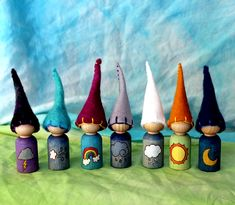 Weather Gnomes peg dolls