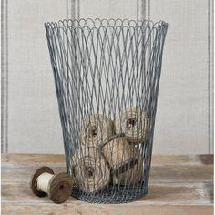 Homart Tulle Wire Wastebasket.