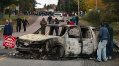 Native protesters against shale gas fracking in Rexton, N.B., have mostly dispersed after a day of clashes with RCMP officers who moved to enforce an injunction against a blockade, prompting a violent reaction in which five RCMP vehicles were burned and 40 people arrested.