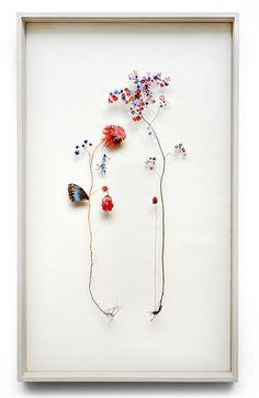 お部屋に飾ったら絶対ステキっ!! お花をモチーフにした繊細で優美な立体コラージュ | Pouch[ポーチ]