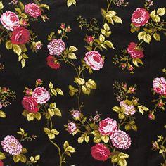 Floral Rose Poly Cotton 60 Inch (Black) The Fabric Exchange http://www.amazon.com/dp/B00LPXCA7W/ref=cm_sw_r_pi_dp_vj.fxb1RPWZF0  45 yards