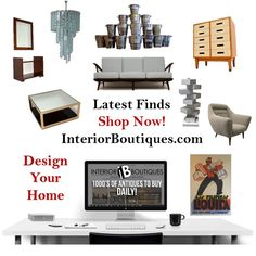 Latest Finds of Decorative Antiques and Mid-Century Design  Our latest finds  comprises of antiques, mid-century, vintage and decorative pieces from around the world by well-known and trusted boutiques. Keep an eye out on this page for new pieces that are introduced daily. You are sure to find that something special you are looking for.