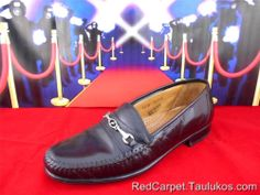 Mens shoes FLORSHEIM Black Leather ITALY Dress Loafer Slip-On Casual Moc toe 8 M #Florsheim #LoafersSlipOns