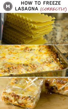 The correct and best way to freeze lasagna in individual servings! how to freeze…