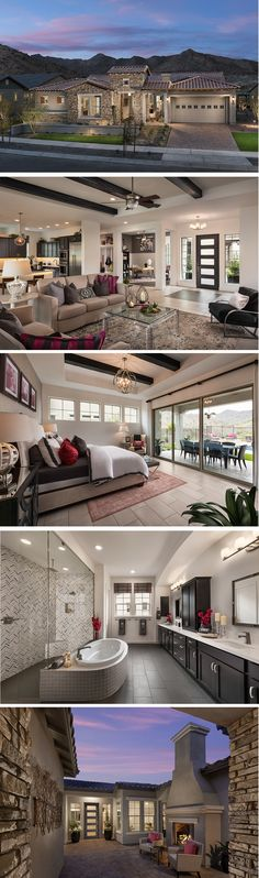 The Serendipity is located in our Encore community, Victory at Verrado, in Buckeye, AZ. Beautiful beamed ceilings await you in this sprawling ranch-style home. Dream House Plans, House Floor Plans, My Dream Home, Dream Houses, Villa, Dream Mansion, Beamed Ceilings, Ranch Style, House Goals