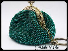 Купить Кошелек монетница из бисера - морская волна, кошелек ручной работы, кошелек женский
