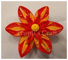 Paper Quilling Flower Magnet #TruptisCraft , #paperquilling ,#quilling, #quillingflowers , #paperquillingflower, #magnet,…