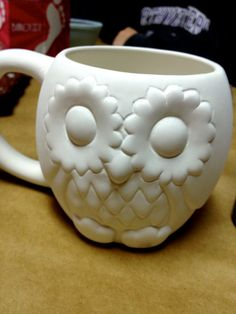 Owl Coffee Cup // Choose Own Colors // SALE $25.00