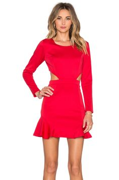 a6dc45aeb34 Lovers + Friends x REVOLVE Eternal Long Sleeve Dress in Red Frilly Dresses