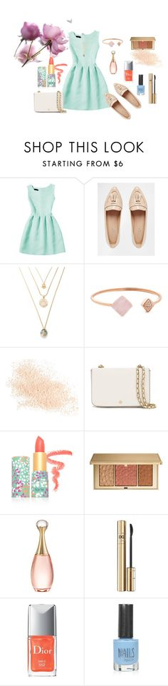 """style #010"" by ayuhariyani on Polyvore featuring Carvela, Michael Kors, Eve Lom, Tory Burch, tarte, Estée Lauder, Christian Dior, D&G and Topshop"