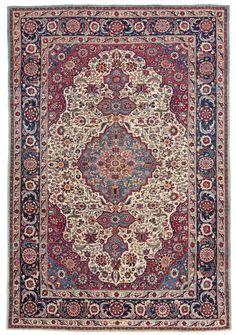 Love this one....  Persian Teheran rug, part silk