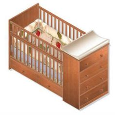 Nursery Convertible Crib / Full Bed / Woodworking Plans