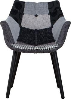 Zuiver stoel Eleven patchwork grijs
