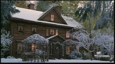 Movie set from the movie Little Women.  This house is an almost exact copy of Alcott's real home.