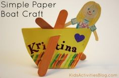 Paper Crafts: Make a Boat - Kids Activities Blog