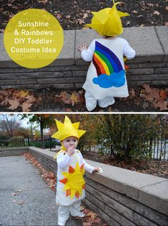 Sunshine and Rainbows super cute #Halloween #costume idea for babies and toddlers {free sewing pattern and tutorial from @Kathy Beymer from Merriment Design} #halloweencostume