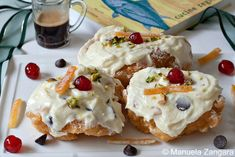 Sfinciuni di San Giuseppe - a typical Sicilian sweet eaten for St. Joseph's Day