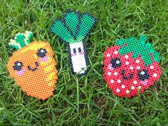 Fruit & vegetables hama beads