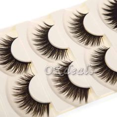 Thick whispy lashes ( 5 ) NWT very nice Makeup False Eyelashes
