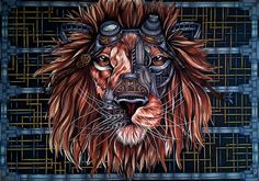 Steampunk Lion: Step By Step From A Blank Page To The Complete Drawing   Bored Panda