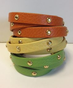 Great leather bracelets...in a ton of colors.  Definitely on this year's Christmas list!