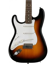 Sunburst Squier Affinity Stratocaster Left Hand Rosewood Fingerboard, and 3 Single-coil Pickups - Brown Sunburst Guitar Shop, Left Handed, Playing Guitar, Acoustic Guitar, Electric, Amp, Brown, Awesome, Kids