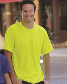 97bcf64b646 JERZEES - Men s Moisture Wicking 100% Polyester Short Sleeve Blank T-Shirt  with Odor Control- 21M