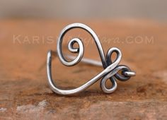 Celtic Heart Ring. Sterling Silver. by Karismabykarajewelry, $39.00