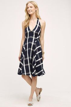 Plaid Halter Dress - Eva Franco anthropologie.com