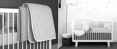 neutral gray nursery design