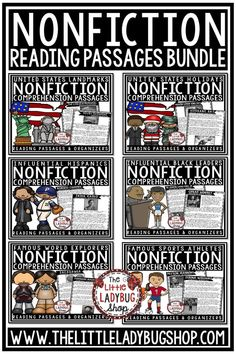 Grow your students love of reading with this Nonfiction Reading Comprehension Passages Bundle.These nonfiction reading passages are bundled together for the first time! Grab the bundle now at a discounted price! These are prefect for Third Grade, Fourth Grade, 5th Graders, and home school students.  #nonfictionpassages #nonfictioncomprehension #nonfictionreadingcomprehension #readingcomprehension