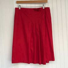 Prada Skirts | Prada Pleated Red Midi Skirt B | Poshmark Prada, Midi Skirt, Ootd, Skirts, Things To Sell, Style, Fashion, Swag, Moda