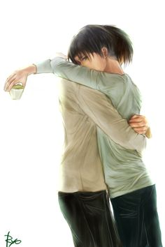 He hugged me and I did the same back. Eren was the only one that could make me smile, and he was the only one that saw it. He knew how broken I was but didn't treat me any different. I love him, but did he love me ((I didn't intend this to become a rp prompt but it is now. Open RP Im Levi))