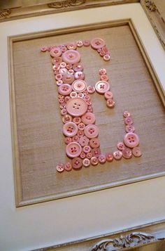 Cute #button idea for monograms