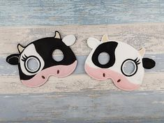 Check out this item in my Etsy shop https://www.etsy.com/uk/listing/587576719/felt-cow-mask-barnyard-animal-mask