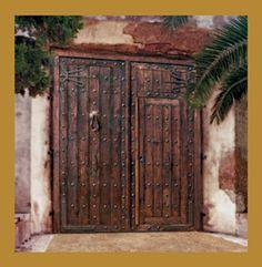 Puertas rusticas de madera de roble