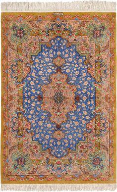 Schuler Auktionen Zürich  |  Ghom-Seide  Z-Iran, um 1990 100x150 cm (ft. 3.3x5).